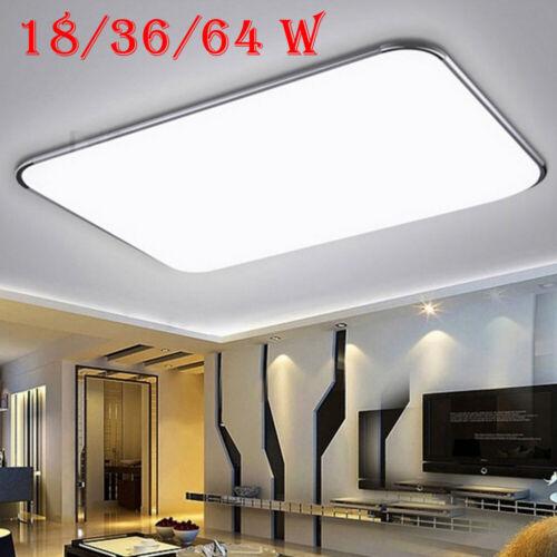 12w 64w Led Deckenleuchte Deckenlampe Dimmbar Wohnzimmer Kuchen Bad Lampe Flach