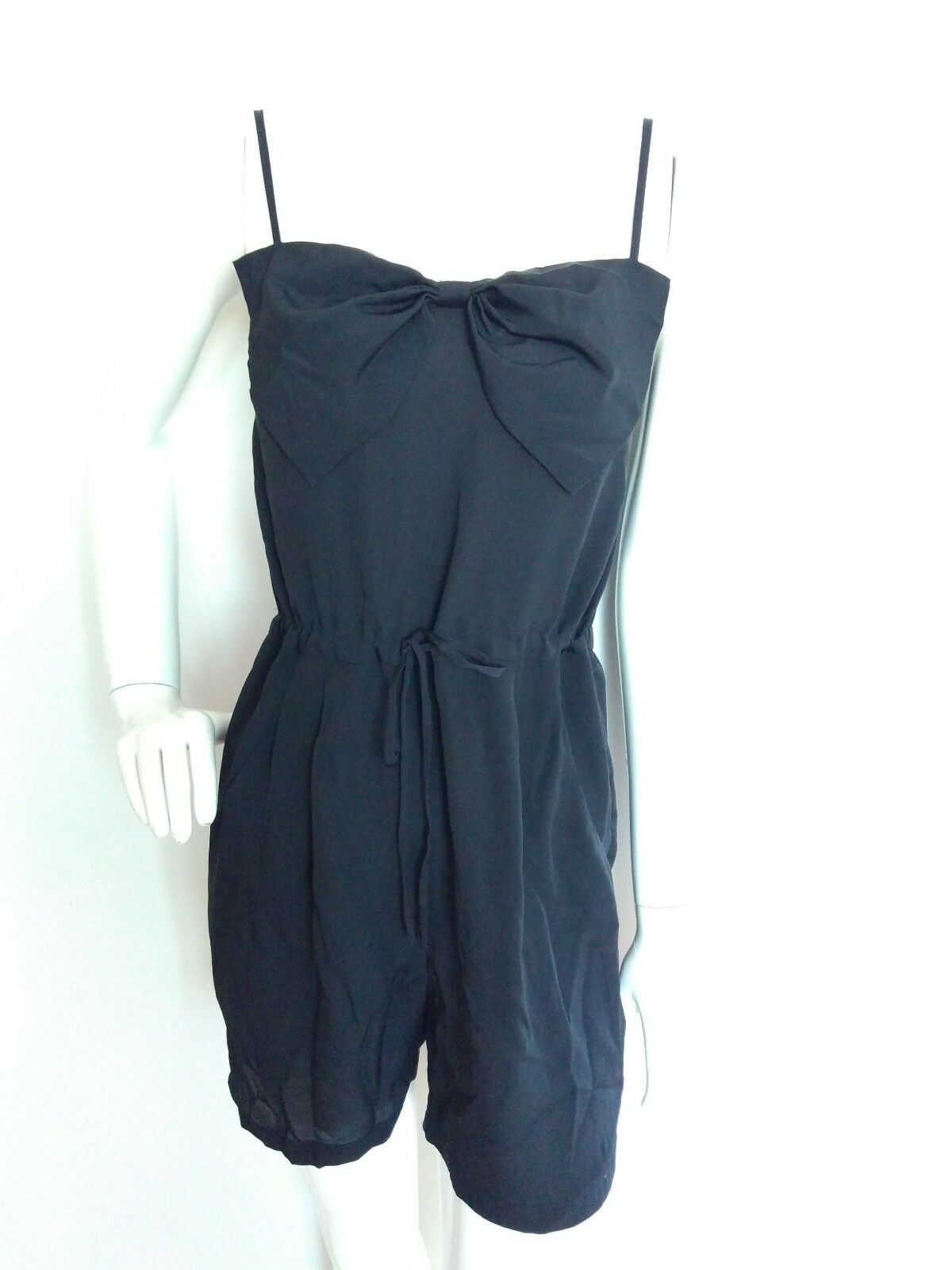 NW3 by HOBBS playsuit romper Größe 6 --BRAND NEW--navy strappy bow detail pockets