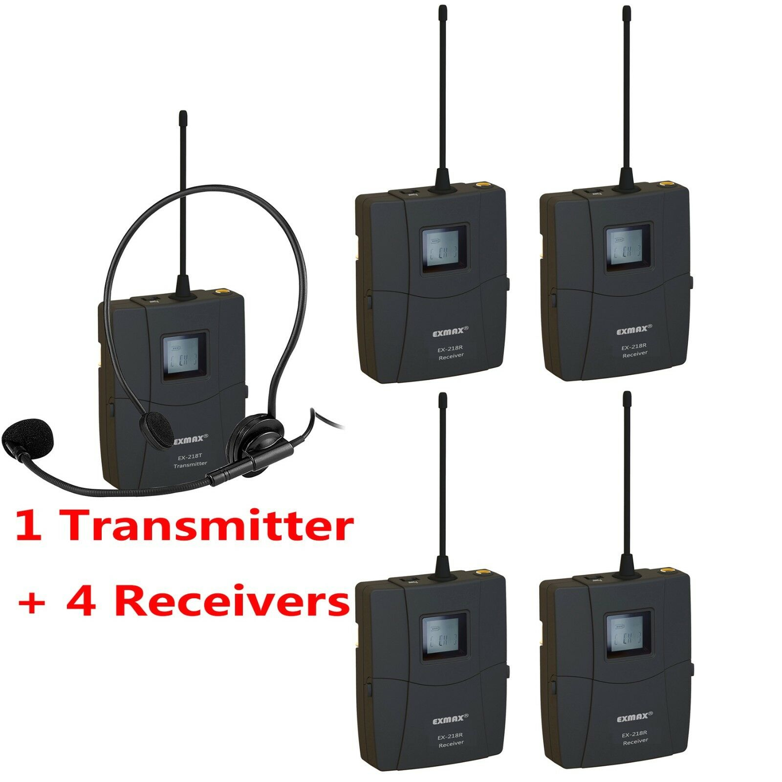 Wireless Tour Guide Monitoring Meeting Conference Church Training System EX-218