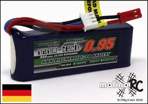 1x-Turnigy-nano-tech-950mah-2S-25-50C-Lipo-Akku-NEU-OVP-7-4V-Blade-200-QX