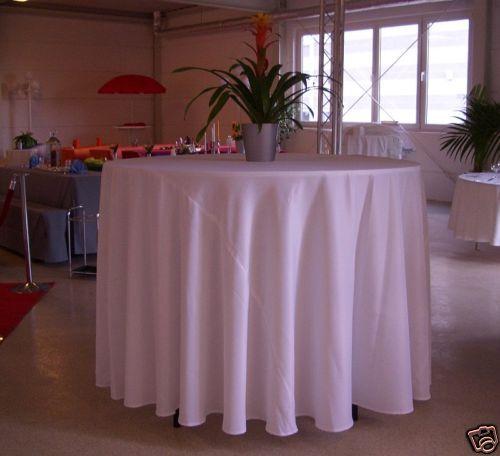 rundes Tischtuch Tischdecke rund 3,20m Durchmesser Farbe BORDEAUX 320 cm