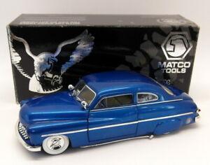 Ertl-Escala-1-18-HR1821-A-1949-Mercury-Coupe-Azul-Edicion-Matco-Tools
