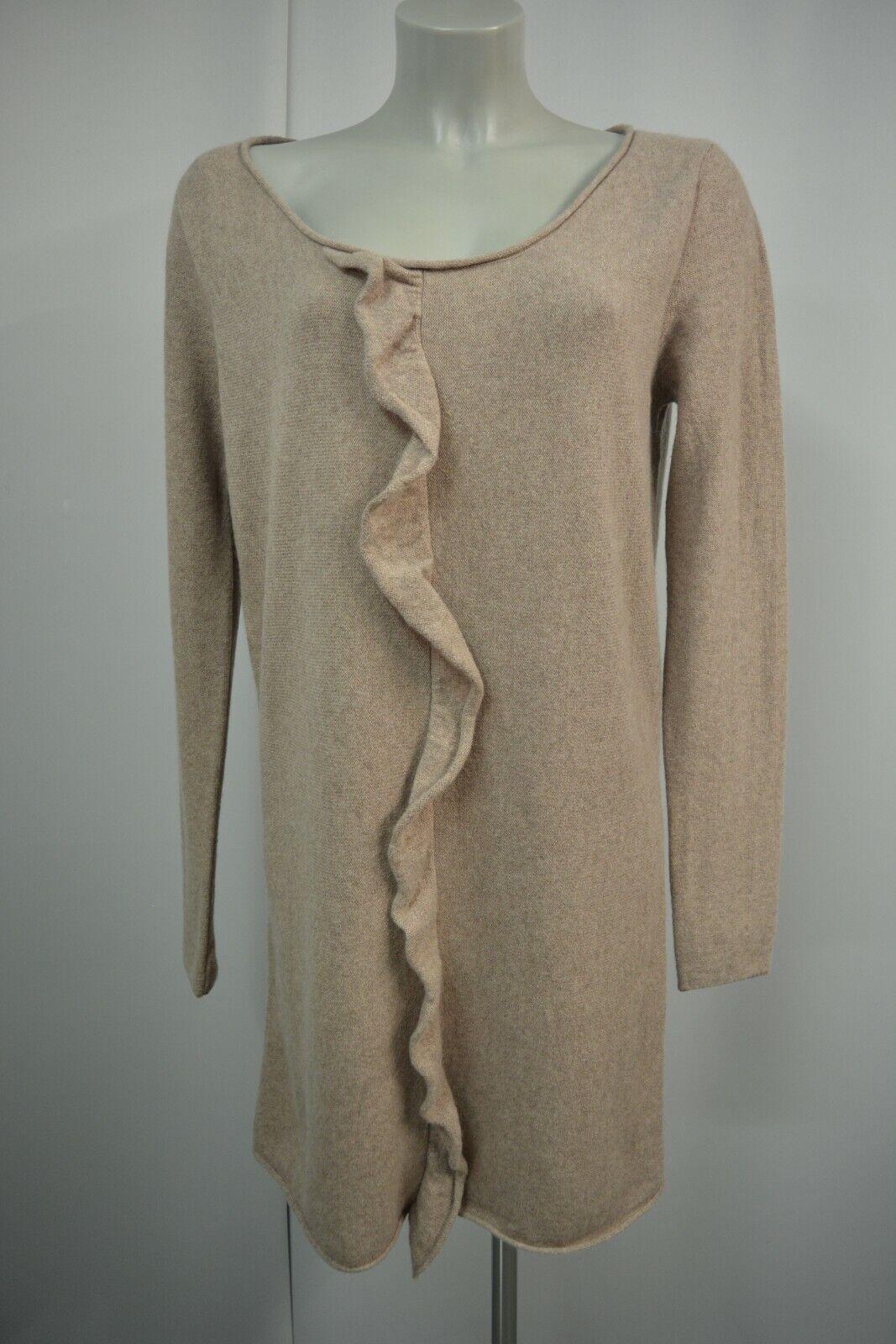 DEAR CASHMERE Strickkleid Kleid L  40  42 Beige Langarm 100% Kaschmir TOP 960