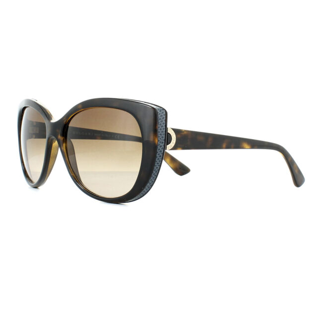 47b011f32f Bvlgari gafas de Sol 8169q 977/13 Havana oscuro marron degradado | eBay