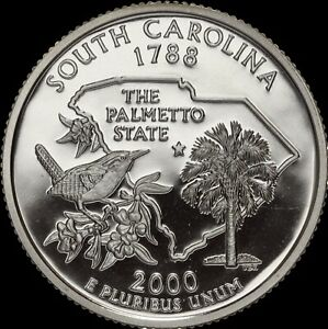 2000 S State Quarter Virginia Gem Proof Deep Cameo CN-Clad Coin