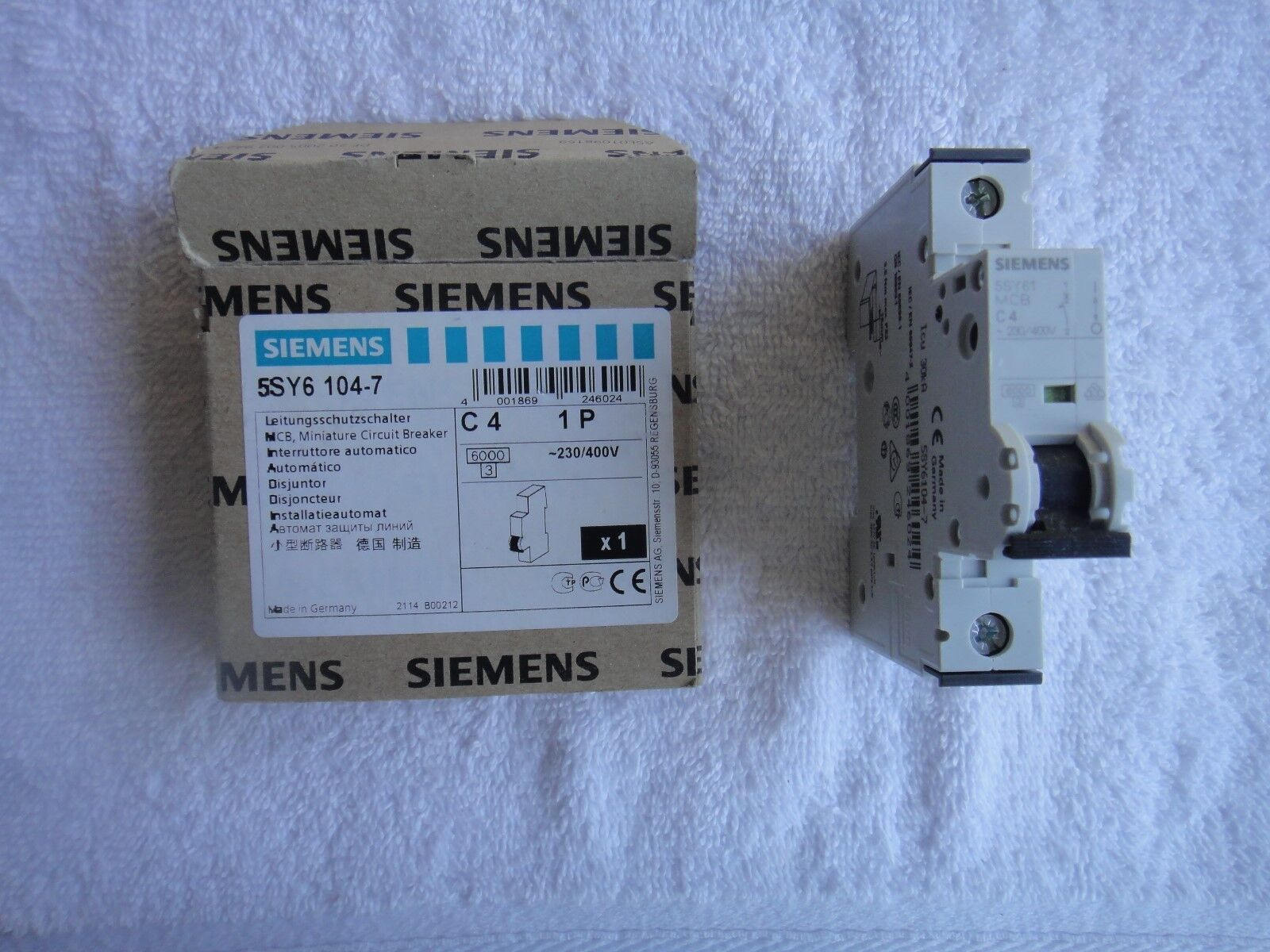 Siemens 5sy6104 7 Circuit Breaker 1p 4a Curve C Ebay 220v 2 Pole 63a Mini Mcb Buy Norton Secured Powered By Verisign