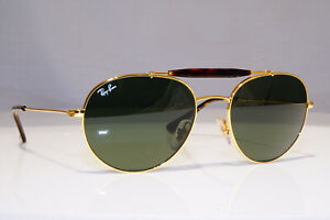 RAY-BAN-Mens-Womens-Designer-Sunglasses-Gold-Round-RB-3540-001-24630