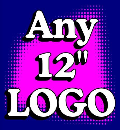 "2 ANY LOGO customizable CORNHOLE /""Baggo/"" 12/"" Decals"