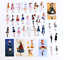 SCRAPBOOKING STICKER AUTOCOLLANT Steampunk Papillons costumes montres Robes