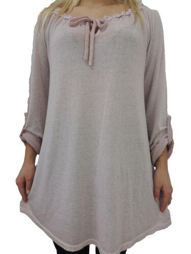 Damen Blusen Shirts Größe 46 48 50 52 54 T Shirt Übergröße Blusen Tunika spitze
