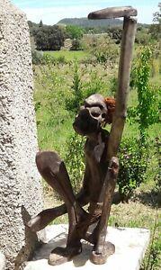 Art Africain Ancien Statue En Bois 40cm Environ