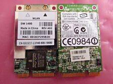 * LOT OF 2 * JC977 - Dell Latitude D830 D631 Mini PCI-E Wireless Cards - DW1490