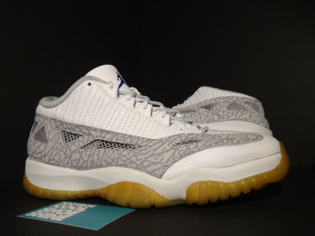 1b85ea2444a 1996 ORIGINAL Nike Air Jordan XI 11 Low I.E. WHITE CEMENT GREY COBALT blueE  10