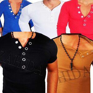 Sweat-T-Shirt-Longsleeve-Sweatshirt-Jumper-Men-039-s-V-Y-Neck-S-M-L-XL-XXL-NEW