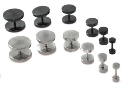 Simple acier 316L faux tricheur Homme Oreille Plug Earring Stud Civière