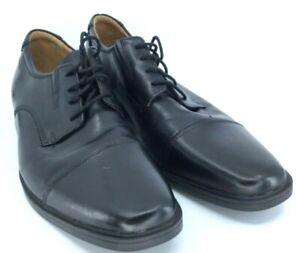 Clarks-Collection-Tilden-Oxford-Men-11M-Black-Leather-Lace-Up-Cap-Toe-Shoe-15770