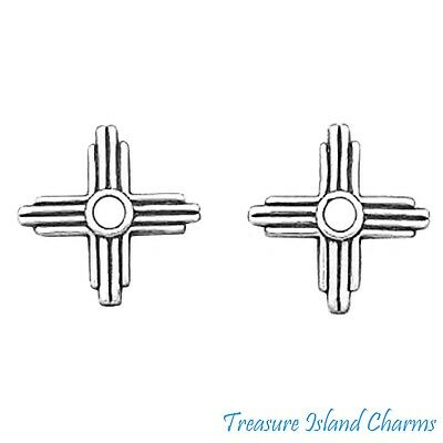 .925 Sterling Silver Small Native Indian Head Stud Earrings 1//4 inch