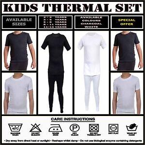 Kids-Thermal-Winter-Warm-Underwear-Long-Sleeve-Top-Bottom-Pants-Set-Boys-Girls