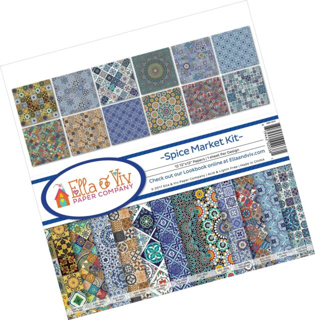 1, Fоur Paсk Ella /& Viv by Reminisce Spice Market Scrapbook Collection Kit