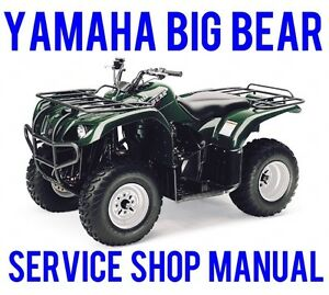 2000 12 yamaha big bear yfm400 4x4 service repair shop manual bonus rh ebay com Yamaha Big Bear 250 Yamaha 350 Big Bear