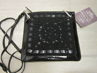 Brighton Purse $170 weave A Story Crocheted Cross Body Bag Black Handmade