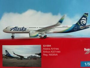 Herpa-Wings-1-500-531894-Alaska-Airlines-Airbus-A321neo-Neuware