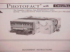 1968 FORD THUNDERBIRD LANDAU HARDTOP SEDAN AM-FM RADIO SERVICE SHOP MANUAL 68