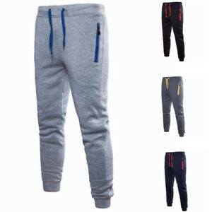 Men-Loose-Sweatpants-Running-Jogging-Trackpants-Pure-Color-Trousers-With-Pockets