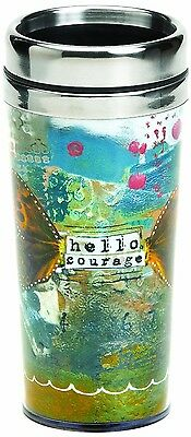 Demdaco The Kelly Rae Roberts Collection Hello Courage Insulated Travel Mug