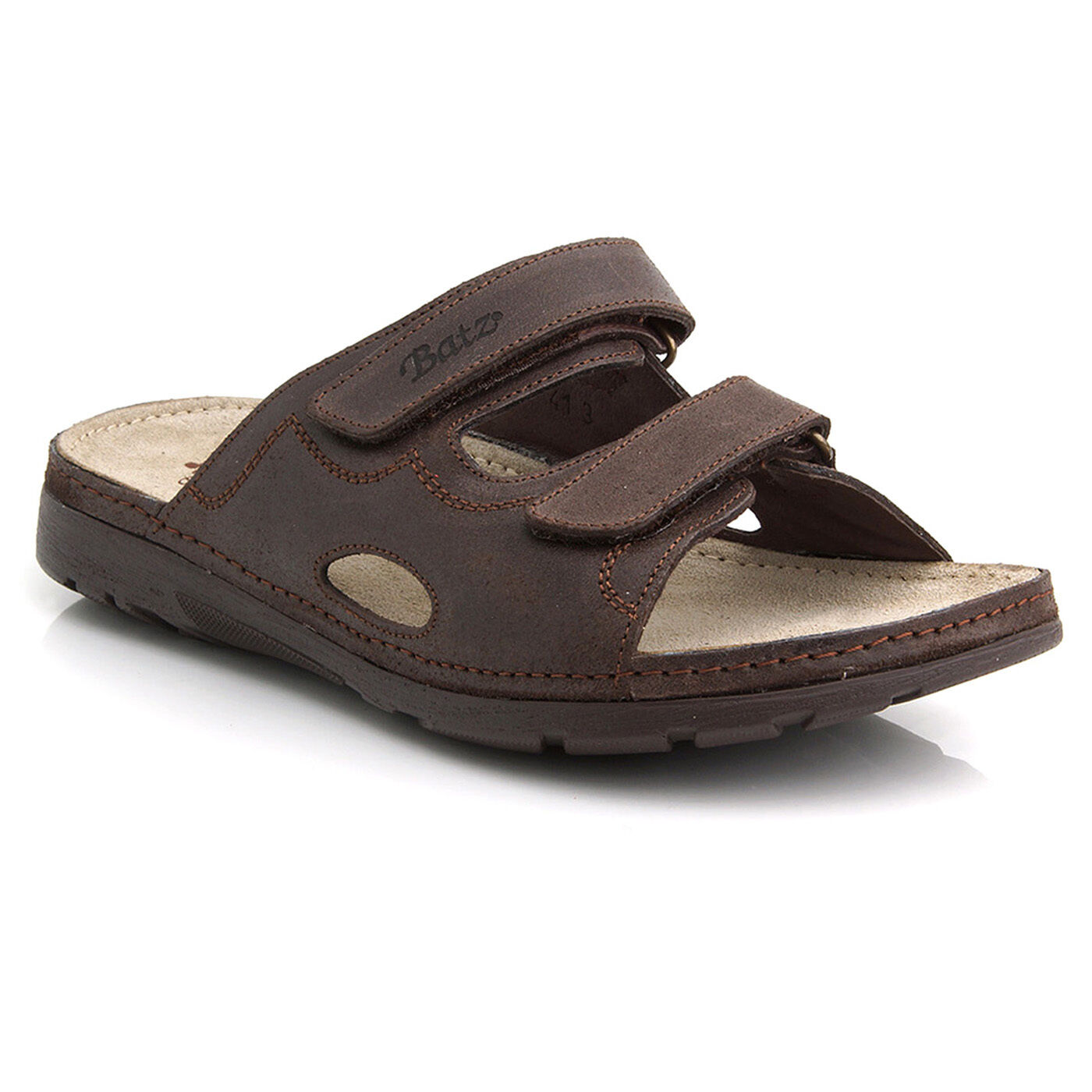 Batz MIKE Brown Top Quality Quality Quality Handmade Leather Slip-on Sandals for Men UK 7.5 - 11 3f5241