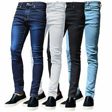 MENS G72 BLACK DENIM SUPER STRETCH SKINNY WHITE SLIM FIT BLUE DENIM GREY JEANS