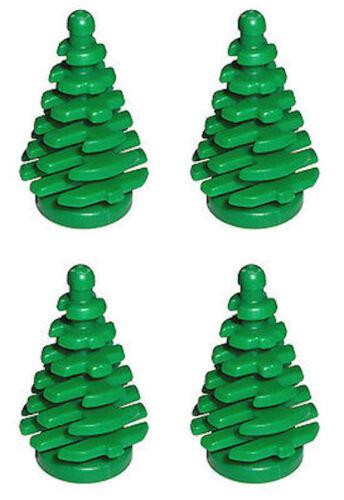 Lego 4 Pine Tree 2x2x4 Christmas Landscape Evergreen LOTR Harry Potter NEW