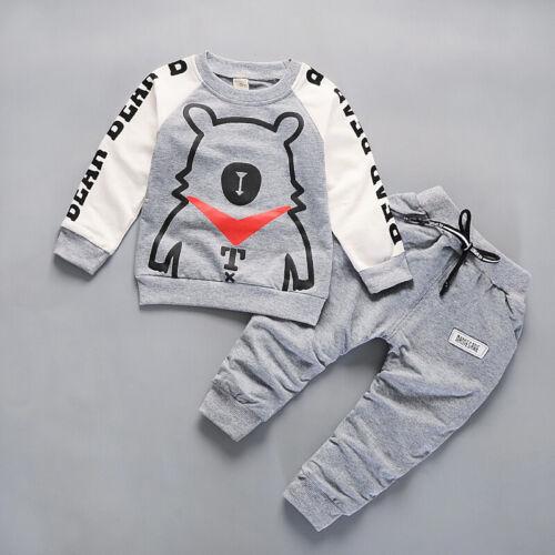 2pcs Kids Boys Clothes Baby Girl Set Long Sleeve T-shirt Pants Child Tracksuit