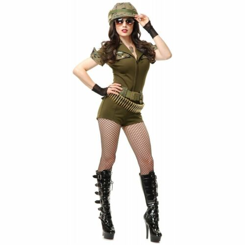 Sgt all sizes Military New by Charades 02674 Stunning Romper Costume for Women