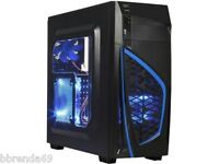 4k Gaming Desktop Computer 3.9gz Quad Core 8gb Custom Built Triple Monitor Wifi