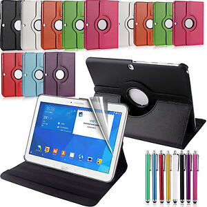 New-Samsung-Galaxy-Leather-Folio-Stand-Tablet-Case-Cover-Tab-360-Degree-Rotating
