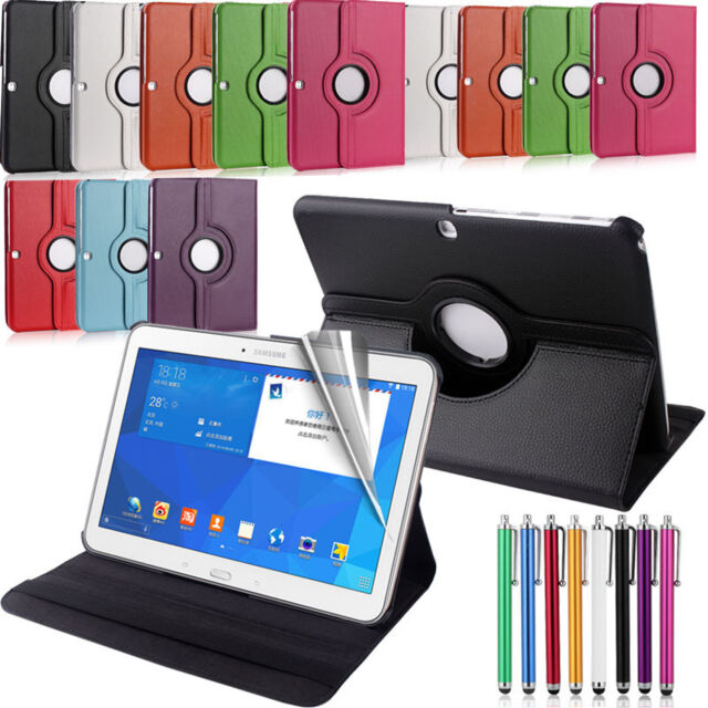 New Samsung Galaxy Leather Folio Stand Tablet Case Cover Tab 360 Degree Rotating
