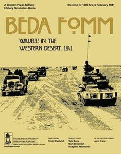 Beda Fomm -  Wavell in the Western Desert 1941 Consim Wargioco © 2010 UNPUNCHED b8  alta quaità