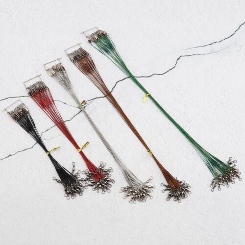 100X Edelstahl Vorfächer Vorfach mit Wirbel Längen 15cm//19cm//23cm//26cm//30cm