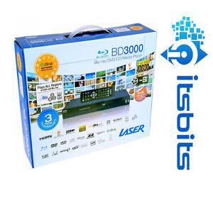 LASER-BLU-BD3000-MULTI-REGION-BLU-RAY-DVD-CD-MEDIA-PLAYER-HDMI-RCA-RJ45-NEW