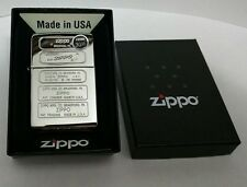 Zippo 28381 Stamped Timeline Lighter Hi Polish Chrome Windproof engraved