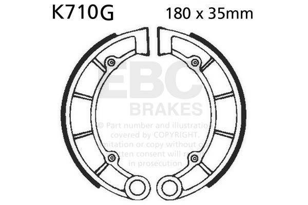 FIT KAWASAKI KVF 400 A1/A2/B1 Prairie 97>98 EBC Grooved Shoe Rear