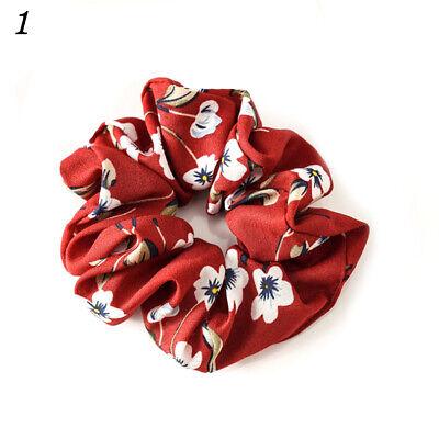 Spring Flower Hair Scrunchie Ponytail Holder Hair Ties Rope Elastic Hair Band C8