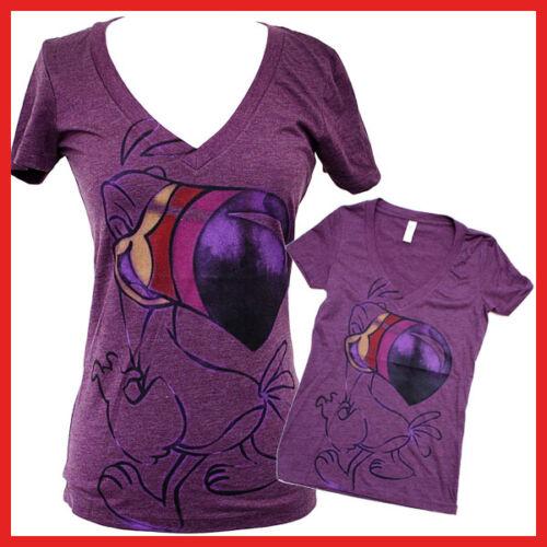 Toucan Girls Women V Neck T Shirt  Purple Tee  4 size S M L XL