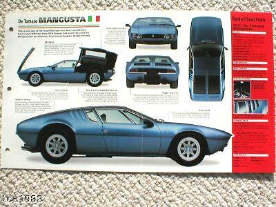 1969/1970/1971 De Tomaso Mangusta Imp Brochure Regalo Ideale Per Tutte Le Occasioni