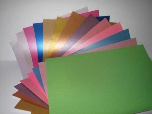 25 Sheets Pearlescent Shimmer A4 90gsm 1-Sided Paper for Cardmaking /& Crafts