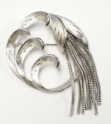 Pretty Vintage  Silver tone Chain Brooch
