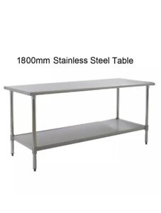 New Stainless Steel Commercial Kitchen Table Under Shelf Mm - 6 ft stainless steel table