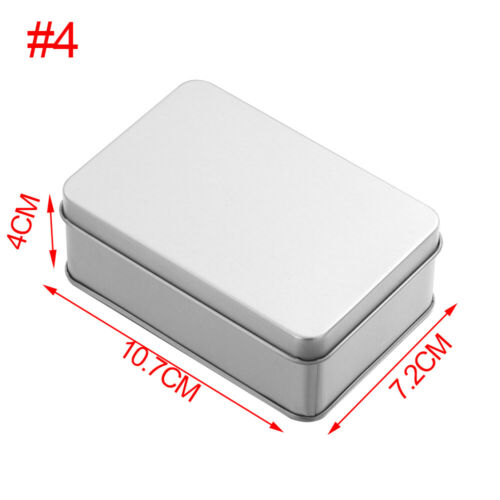 Small Sealed Container Jewelry Tin Empty Case Coin Candy Keys Metal Storage Box