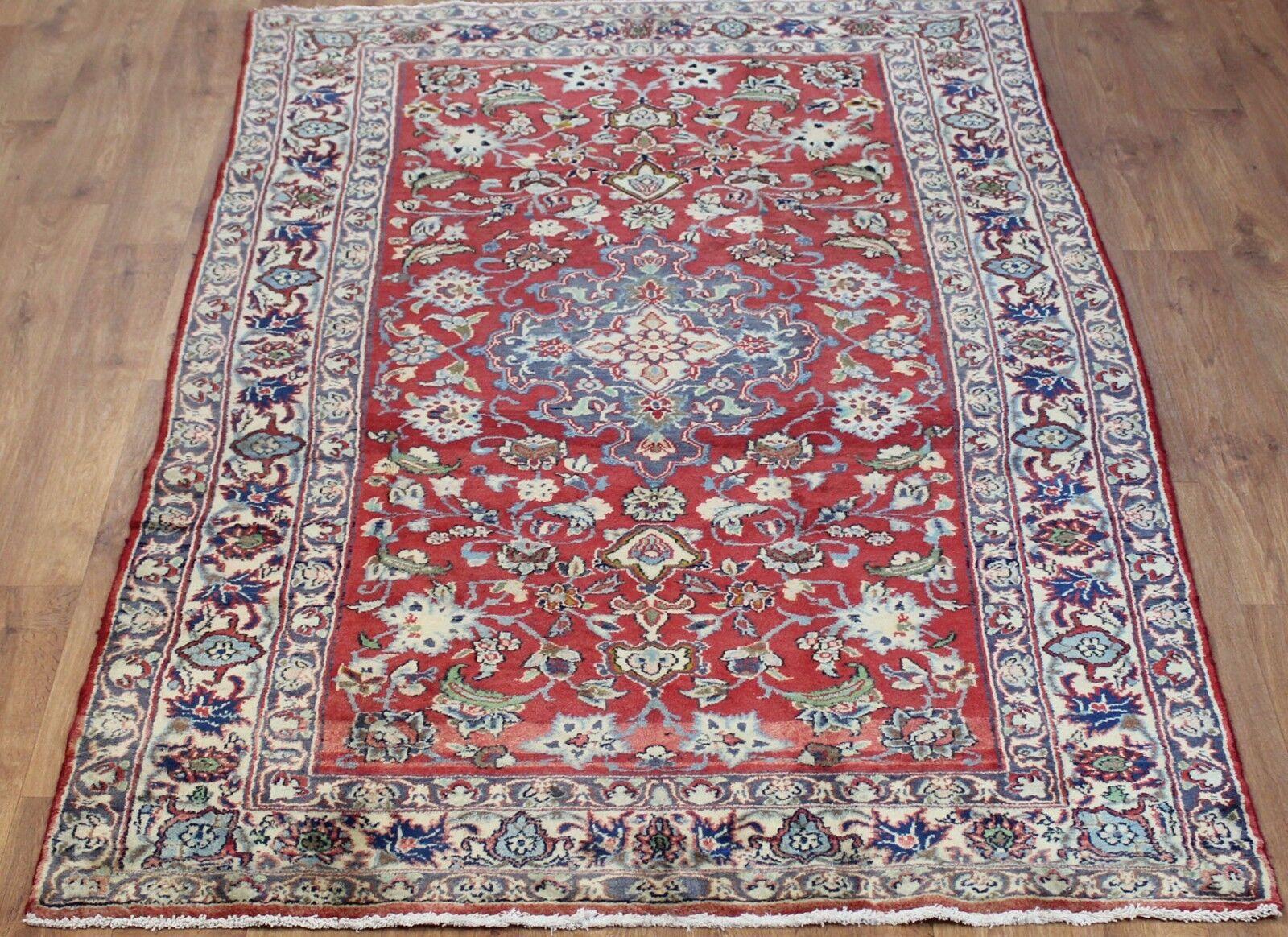 Traditional Vintage Wool 267cmx 140cm Oriental Rug Rug Oriental